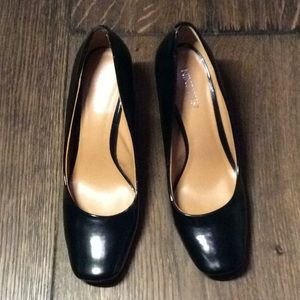 "Nine West 3"" heels black patent"