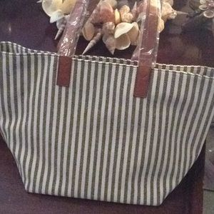 Sole Society Linds striped large travel tote