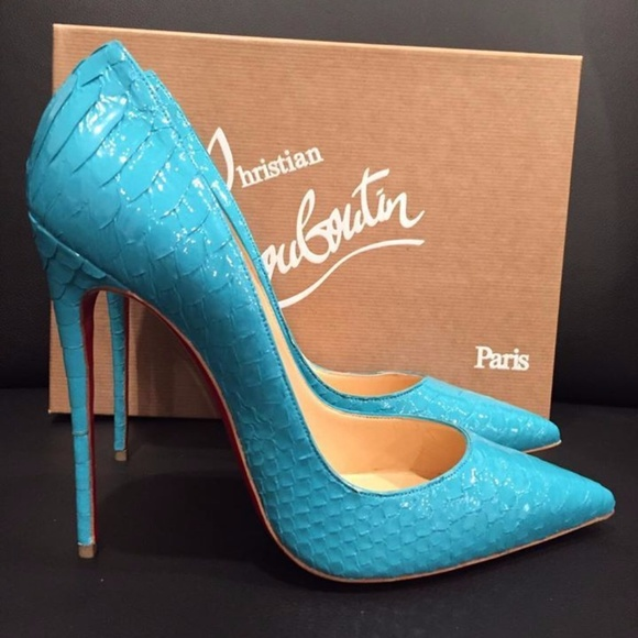 8f5462f07441 Christian Louboutin So Kate 120 Blue Pacific Snake