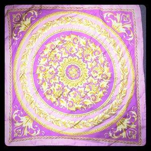 Versace silk square scarf 24 inch square