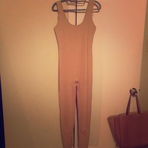 Forever21 nude tan jumpsuit large small or med