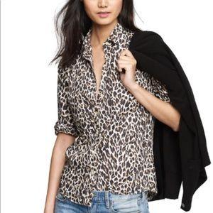 Jcrew retail leopard perfect shirt.
