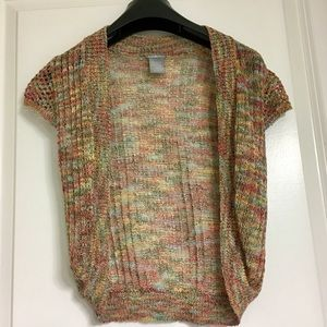 Colorful short sleeve cardigan