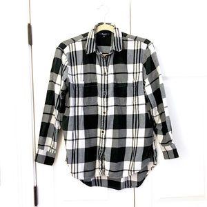 🆕 Madewell plaid flannel shirt