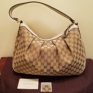 Gucci Canvas Medium Sukey Hobo Bag