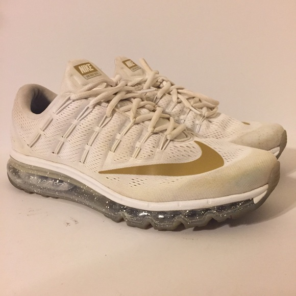 new arrival ee14b 73426 Nike Air Max 2016 iD white gold men s size 11. M 5a160c37680278fa5c004495