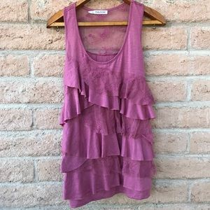 Maurice's Pink Flowy Lace Tank Top