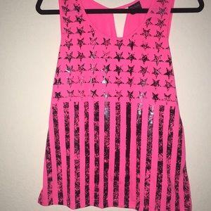A cute pink shirt!