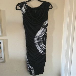INC INTERNATIONAL CONCEPTS BLACK DRESS rhinestones