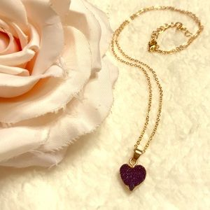 Druzy Heart Necklace 💙💙