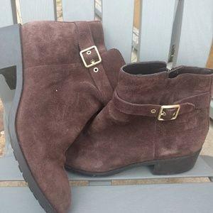 Cole Haan Brown Suede Weatherproof boots