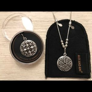 2 Silver Alex & Ani Charms w/ Adjustable Necklace
