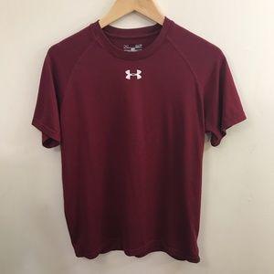 {Under Armour} Dark Red Workout Shirt Men