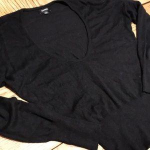 Express Deep Scoop Neck Long Sleeve Sweater