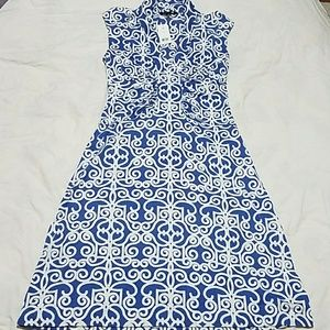 NewBananaRepublic sleeveles blue midi dress.Medium