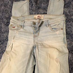 Destroyed light wash skinny jeans size 1R