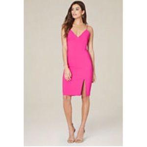 NWT Bebe Open Back Slit Dress