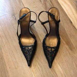 Black leather Carlo Santana shoes