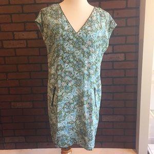 Anthropologie Maeve silk snakeskin Printed Dress