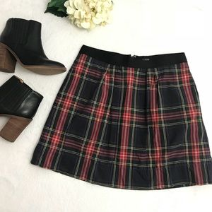 {J.Crew} Tartan Marvelle Plaid Mini Skirt