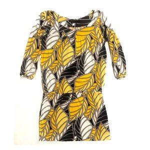 BCBG Yellow Printed Dress