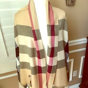 Gorgeous Pashmina in traditional color block