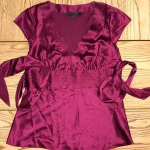 Express Design Studio Silk Cap Sleeve Blouse