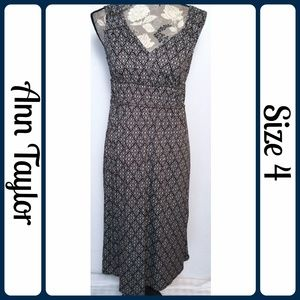 Sz 4 Ann Taylor Dress, Brown & Ivory