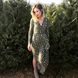 Saratoga Maxi Dress - green print