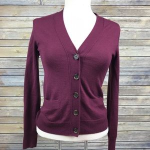 J. Crew Merino Wool Blend Cardigan Sweater