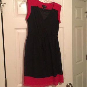 Red and Black toe waist dress