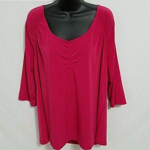 Lane Bryant pink 3/4 length sleeve size 18 / 20