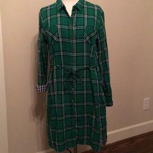 Merona Plaid Flannel Shirt Dress