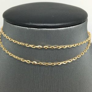 18K Yellow Gold Cable Chain 18 inches
