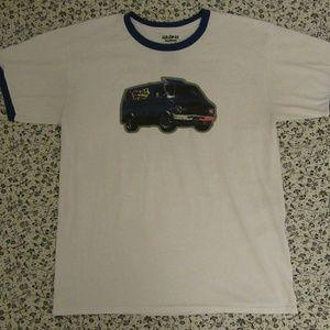 Beastie Boys-Van Art Ringer tshirt Tee L