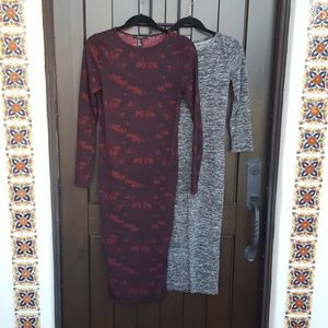 2 Forever 21 holiday midi dresses, medium