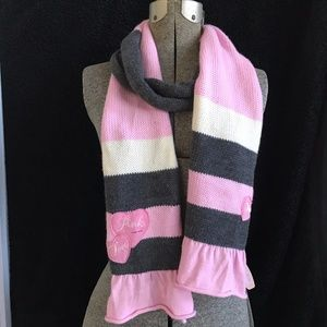 Vtge. Victoria's Secret PINK Heart  Scarf NWT