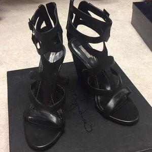 Report Signature Black Strappy Heels
