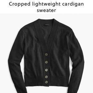 J. Crew cropped cardigan sweater in black