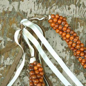 Boho Ethic Multi Strand Wood Beaded Necklace