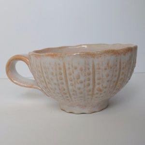 Anthropologie ceramic mug Portugal - peach