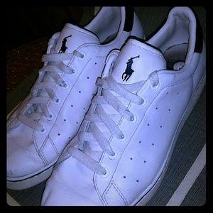 White Leather Polo Lows