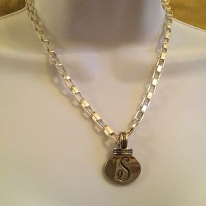 """""""S"""" Monogramed Necklace"""