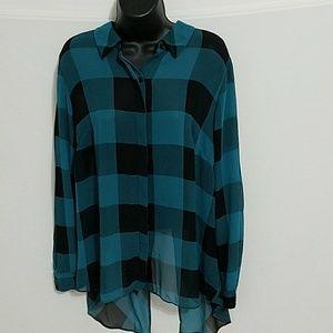 Lane Bryant button down shirt sheer size 14/16