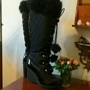 Bebe Sexy Snow bunny boots