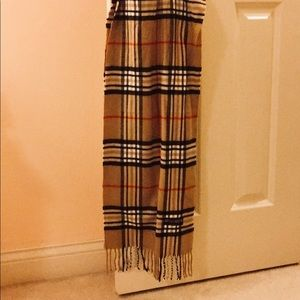 Plaid Cashmere Scarf (Made in Italy)