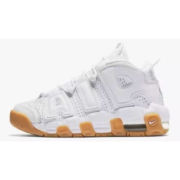 b7ef1fb6add Nike Air More Uptempo White Gum Basketball Shoes