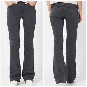 Topshop moto Jamie flare jeans grey stretch pants