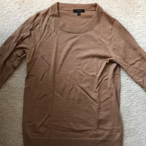 J.Crew tan Merino sweater size S