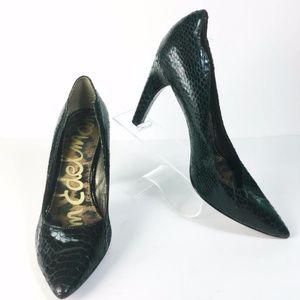 SAM EDELMAN Sadi Snake Print Pump Heels